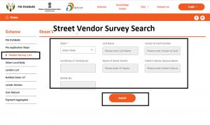 Street Vendor Survey Search