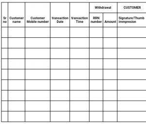 AEPS Transaction Diary Maintenance Format
