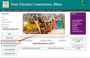 Bihar Panchayat Election Voter ID List 2021